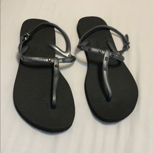 Havaianas silver jewel sandals new 11 41 42